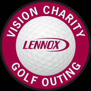 lennox logo. lennox vision charity golf outing logo